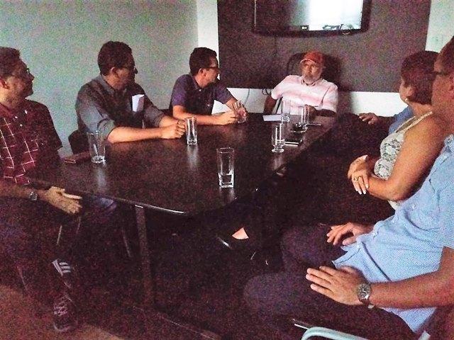 Reunião com o prefeito de Delmiro Golveia