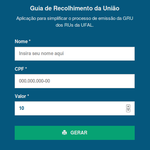 App para facilitar a geração de GRU do Restaurante Universitário